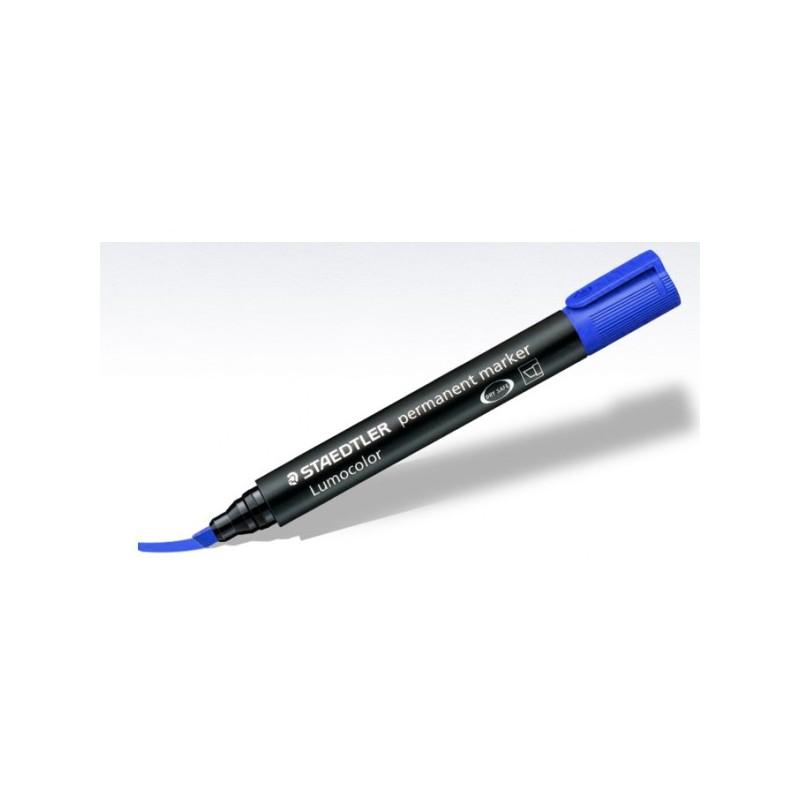 Marqueur Permanent Pointe Biseautée STAEDTLER Lumocolor / Bleu