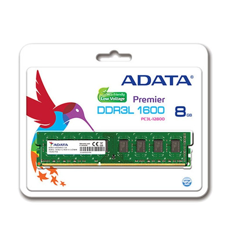 Barrette Mémoire ADATA 8Go DDR3 Low Voltage Pour PC de Bureau