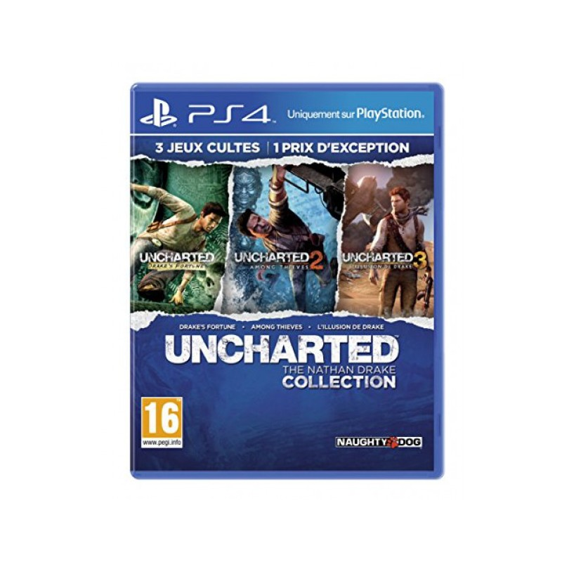 Jeu PS4 UNCHARTED THE NATHAN DRAKE COLLECTION