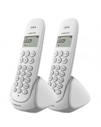 TELEPHONE DÉDUCTIBLES LUNA DUO 250 Blanc LOGICOM
