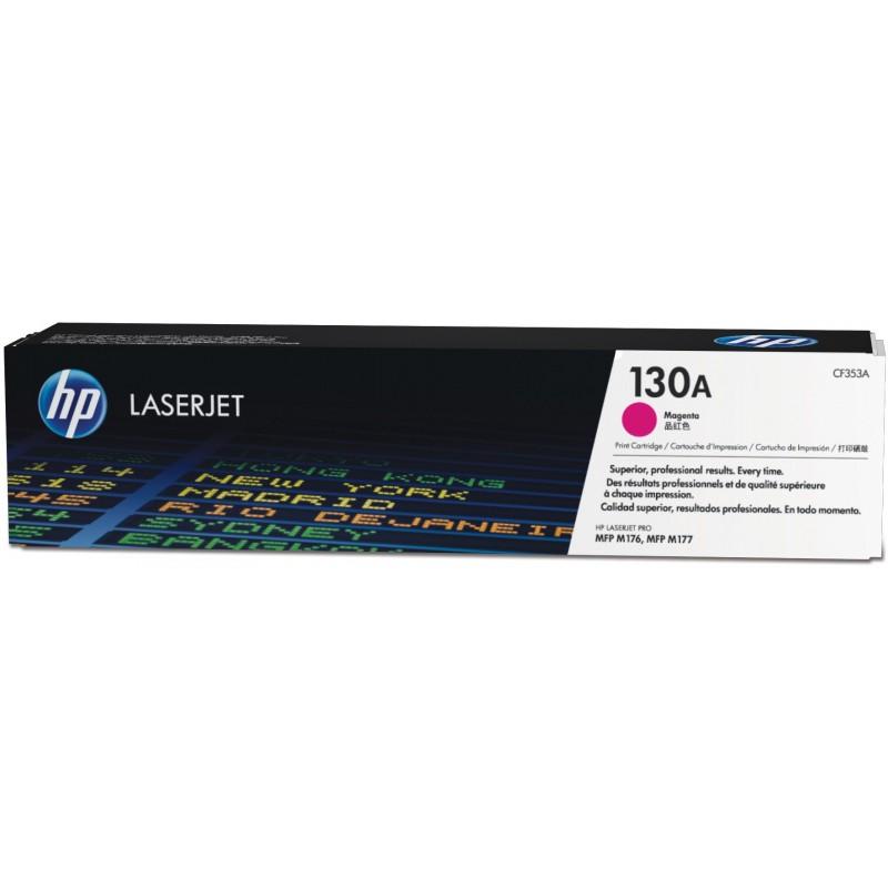 Cartouche de toner magenta d'origine HP LaserJet 130A (CF353A)