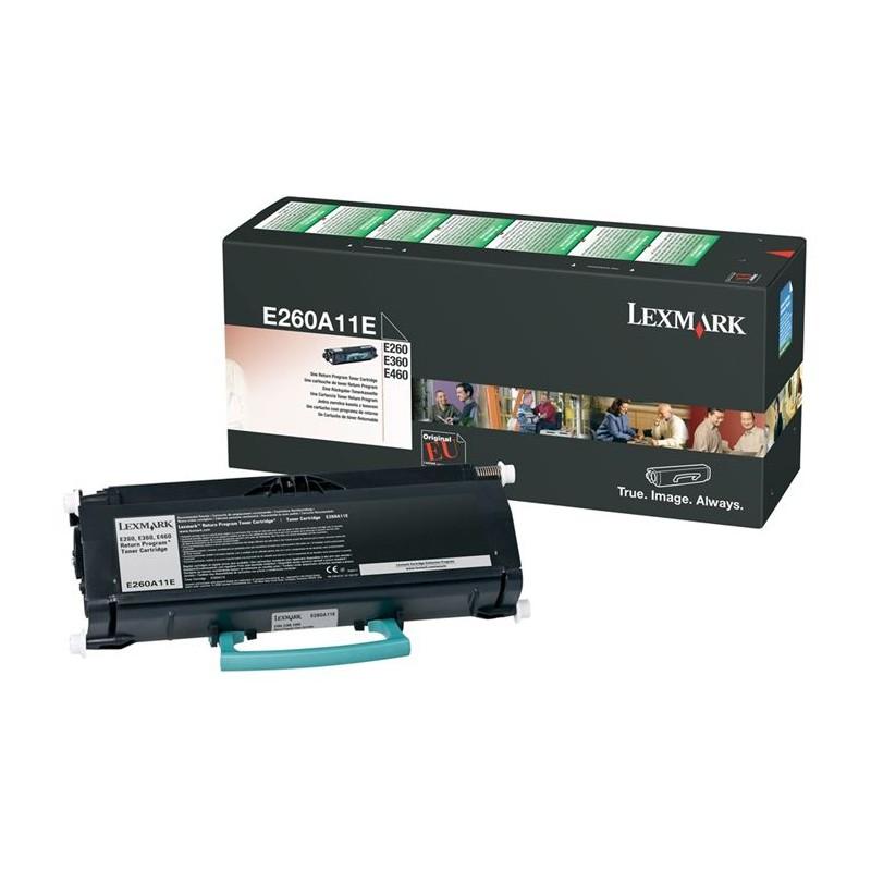 Toner LEXMARK E260A11E Noir