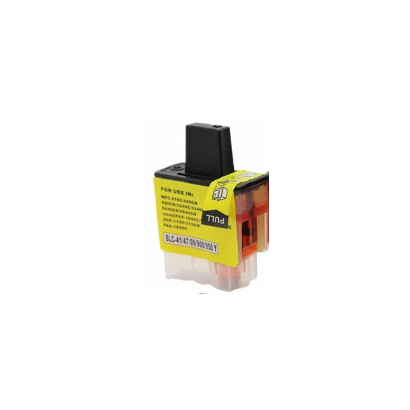 Cartouche d'encre adaptable Brother-LC09/41/900/47/950 Jaune