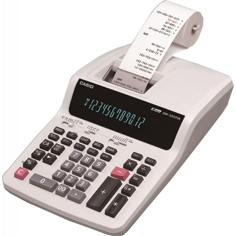 Bureau Calculatrice imprimante Casio DR-120TM Blanc