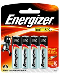 Piles Energizer Max AA 4 pack