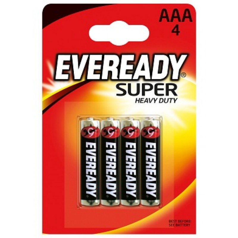 Piles Eveready Super Heavy Duty Batteries AAA 4 pack