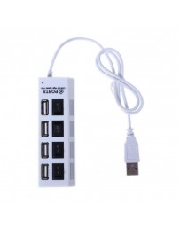 HUB USB 2.0 HI SPEED 4 PORTS + INTERRUPTEUR