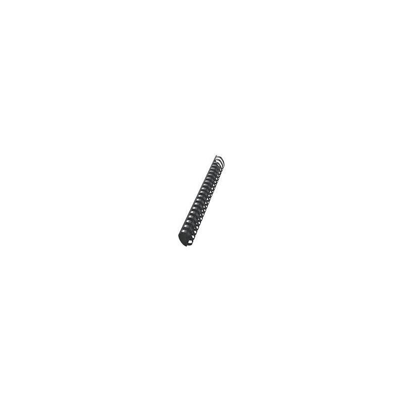 50 RELIURES SPIRALE PLASTIQUE 45mm Noir