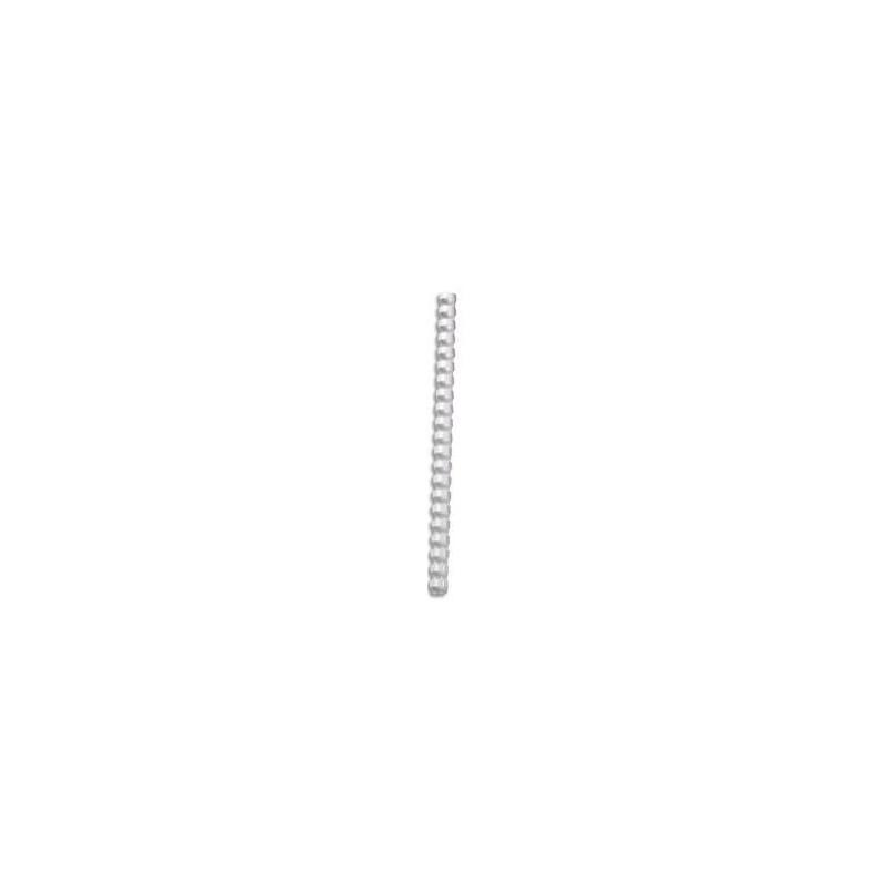 100 RELIURES SPIRALE PLASTIQUE 8mm Blanc