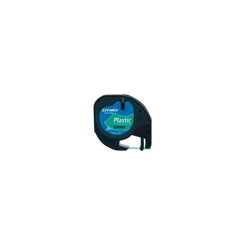 Ruban D'étiquettes DYMO Plastique 91204 Vert 12 Mm X 4 M