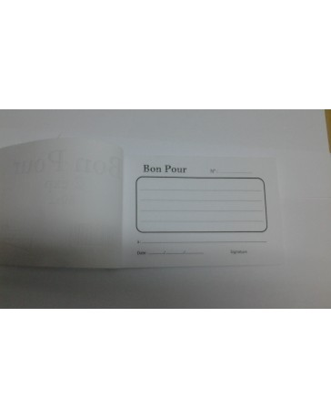 CARNET BON POUR 2EXP 50X2 RIBAT