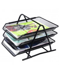 PORTE A COURRIER 3-TIER DOCUMENT TRAY METAL 4-7