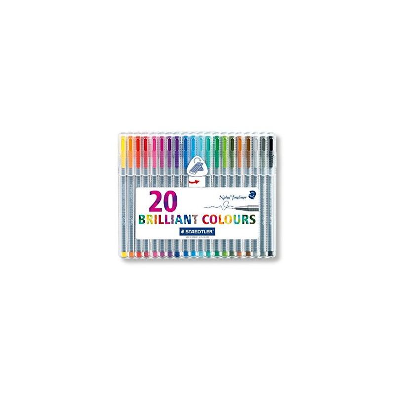 ETUI STAEDLER BOX DE 20 TRIPLUS FINELINER 334-SB20