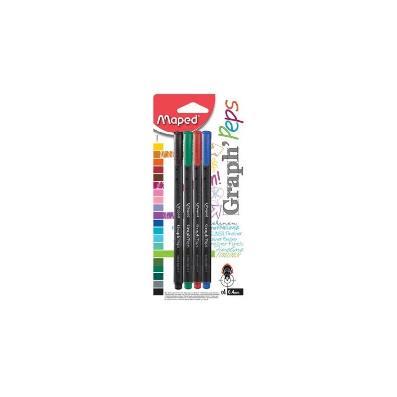 BLS 4 STYLO P FINE GRAPH'PEPS ASS MAPED 749144