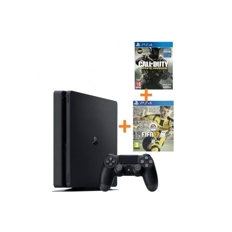 PACK PLAYSTATION CALL OF DUTY 4 PS4 1T+MANETTE SONY WIFI + FIFA-17