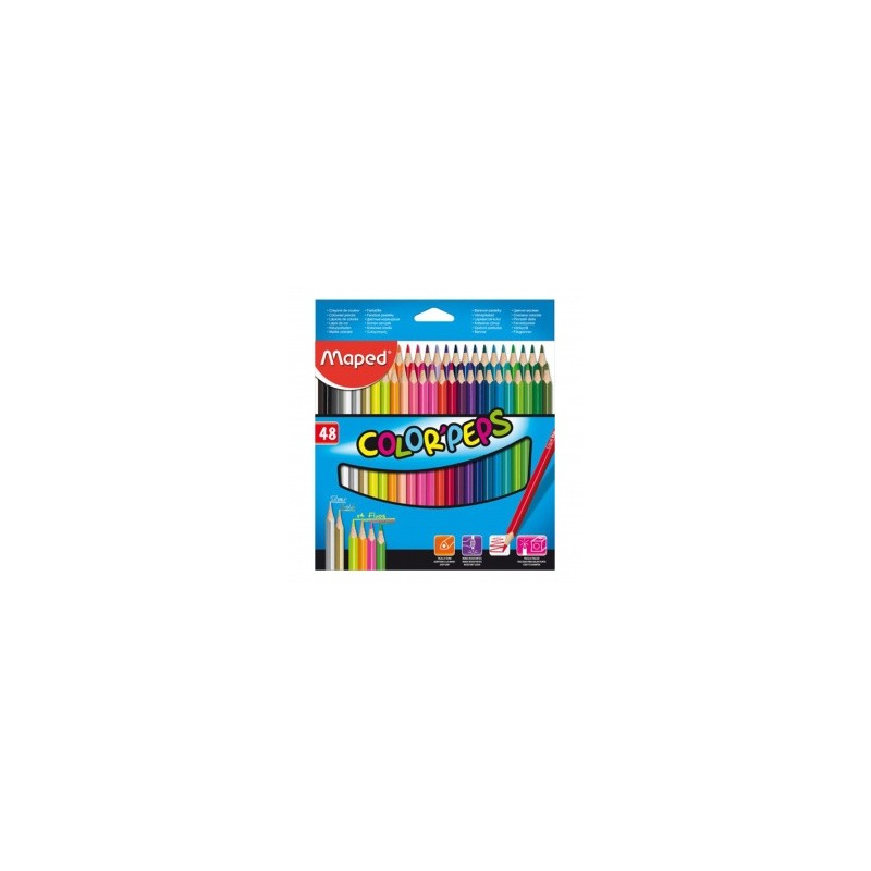 BOITE DE 48 CRAYON COLOR'PEPS MAPED 832048