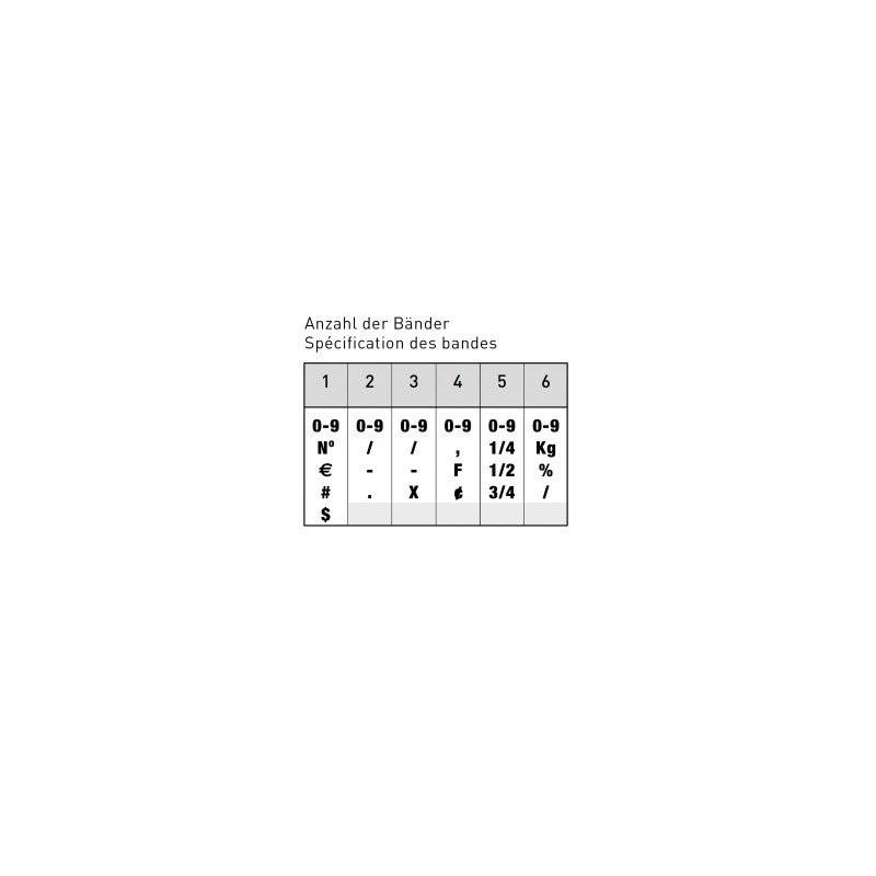 NUMERATEUR TRODAT 1596 (9MM-6CHIFFRES)