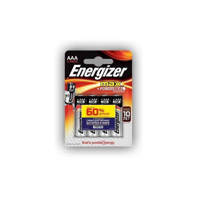 PILE LR06 ALKALINE E91 BP4  ENERGIZER 60% LONGER