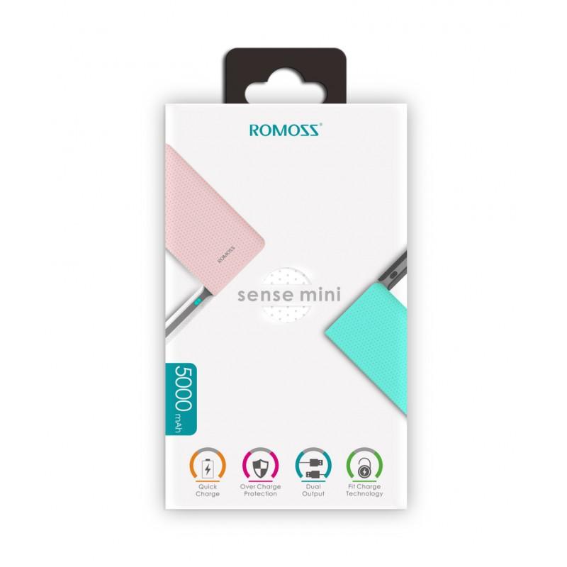 Romoss PowerBank Sens Mini PHP05 5000 mAh - Rose