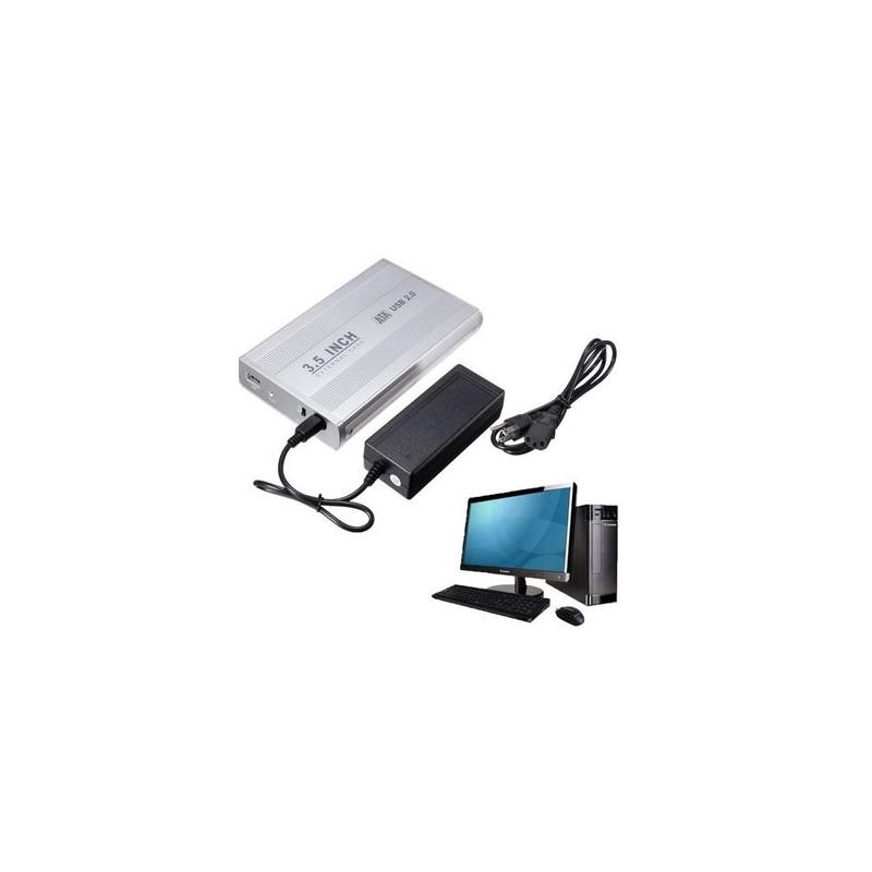 "BOITIER POUR DISQUE DUR 3.5"" MOBILE DISK USB 2.0 ULTRA SLIM"