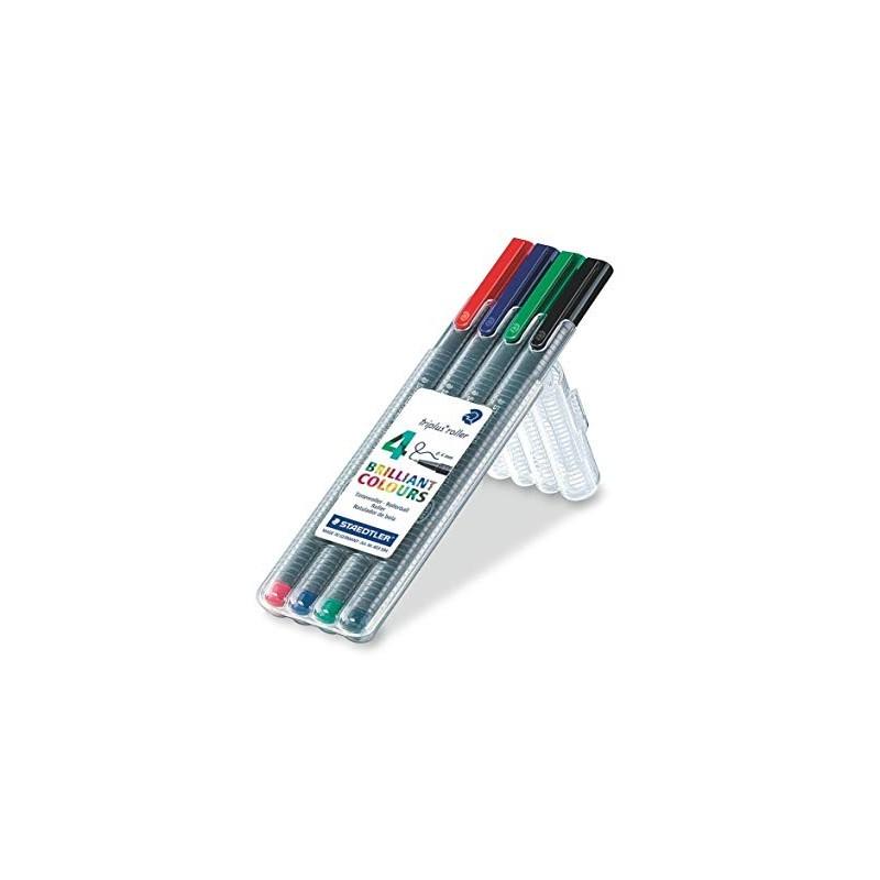 ETUI STAEDTLER BOX DE 4 TRIPLUS FINELINER 334-SB4