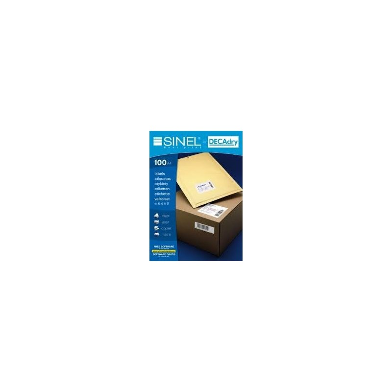 ETIQUETTE SINEL DECADRY R.21896 48.5X16.9  100 A4/68