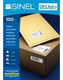 ETIQUETTE SINEL DECRAY REF 20178 210X148.1MM100 A4/4