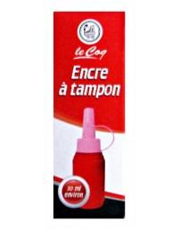 ENCRE A TAMPON LE COQ B/R/V/N 30ML