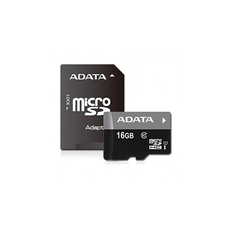 CARTE MEMOIRE MICRO 16G + ADAPT AUSDH16GGUICL10-RAI CLASSE 10